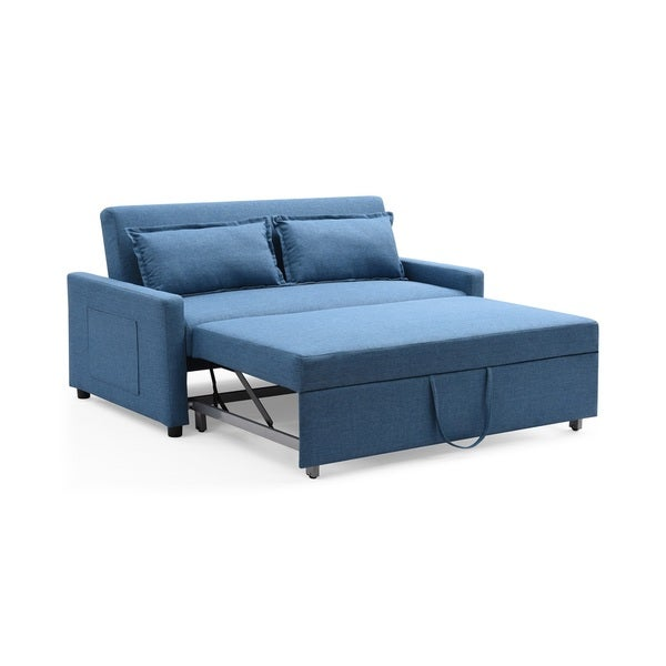 fabric modern convertible sofa pullout bed with storage full size newport costco