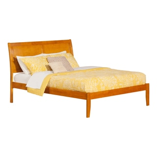 Portland Queen Open Foot Platform Bed in Caramel
