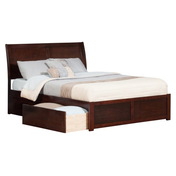 Shop Portland Queen Platform Bed with Flat Panel Foot Board and 2 ...