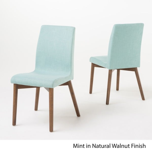 Orrin Mid Century Fabric Dining Chair Set of 2 by Christopher