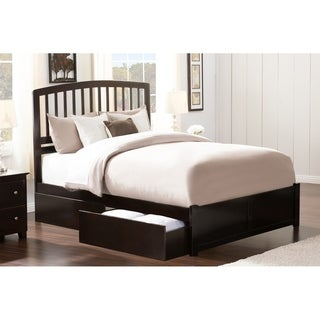 atlantic richmond wood queensize flatpanel footboard platform bed with