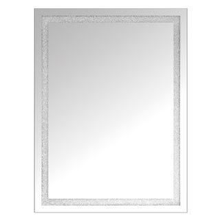 Selections by Chaumont Clear Glass Rectangular Mirror with Inset Beaded Crystal Panel (Set of 2)