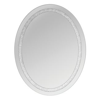 Beaded Crystal Oval Wall Mirrors (Set of 2)