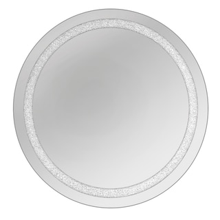 Beaded Crystal Circular Wall Mirrors (Set of 2)