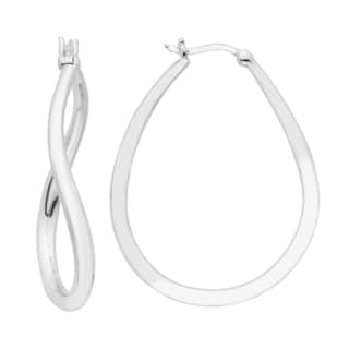 Boston Bay Diamonds Women's Sterling Silver Twisted Hoop Earrings