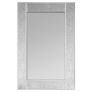 Selections by Chaumont Glitter Ascot Clear Glass Small Rectangle Wall Mirror (Set of 2)