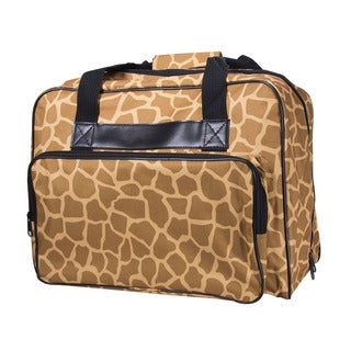 Janome Giraffe Multicolor Canvas Universal Sewing Machine Tote Bag
