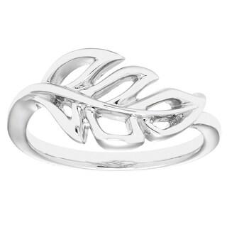 Boston Bay Diamonds 925 Sterling Silver Open Leaf Band Ring