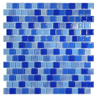 Tides Blue Glass Mosaic Tiles (Pack of 5)