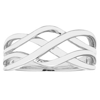 Boston Bay Diamonds 925 Sterling Silver Woven Band Ring