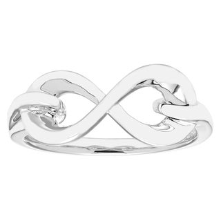 Boston Bay Diamonds Women's Sterling Silver Infinity Band Ring