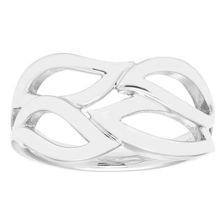 Boston Bay Diamonds 925 Sterling Silver Willow Band Ring