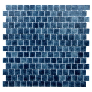 Quartz Blue Glass Mosaic Tiles (Pack of 5)