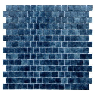 Quartz Blue Glass Mosaic Tiles