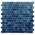 Quartz Blue Glass Mosaic Tiles (Pack of 5)