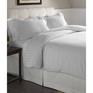 Pointehaven Fair Isle Cotton Flannel Oversized Duvet Set