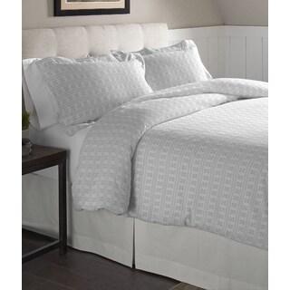 Pointehaven Fair Isle Cotton Flannel Oversized Duvet Set
