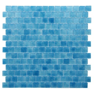 Quartz Blue Glass Mosaic Tile (Pack of 5)