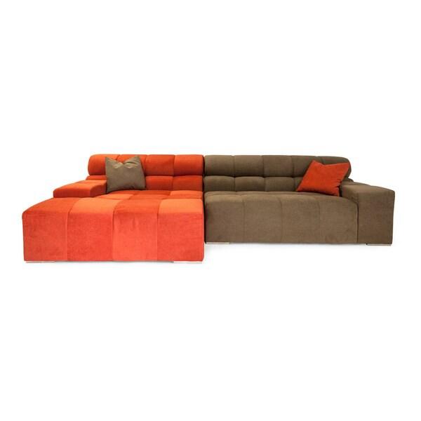 Karl Cubix Modern Modular Premium Cashmere Left Sofa Sectional