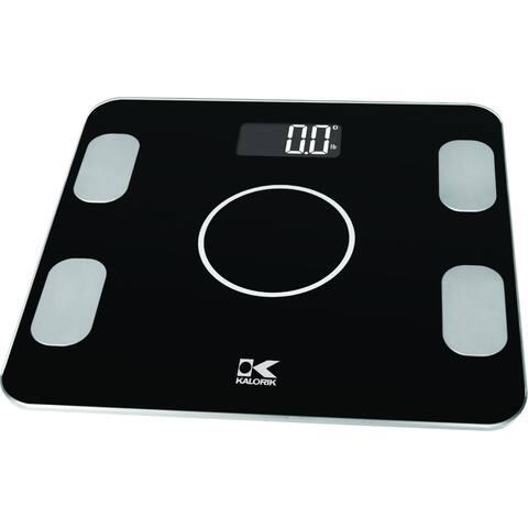 Kalorik Bluetooth Black Electronic Body Fat Scale