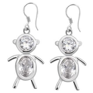 Orchid Jewelry 925 Sterling Silver Cubic Zirconia Drop Earrings