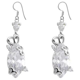 Orchid Jewelry 925 Sterling Silver Cubic Zirconia Dangle Earrings