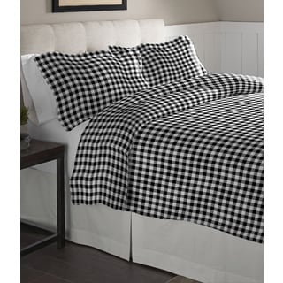 Pointehaven Milton Oversized Cotton Flannel Duvet Set