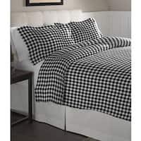 Pointehaven Milton Oversized Cotton Flannel Duvet Set