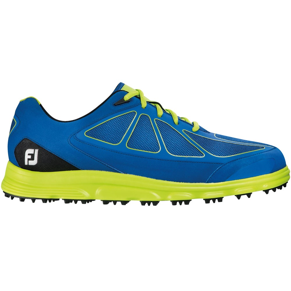 FootJoy Superlites Athletic Golf Shoes 2016 Dark Blue/Lim...
