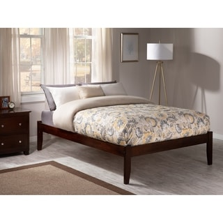 Concord Walnut Brown Wood King-sized Open-foot Bed