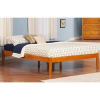 Atlantic Concord Caramel Latte Wooden Open Foot Queen Bed