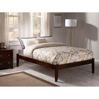 Concord Walnut Wood Open-foot Platform Queen Bed
