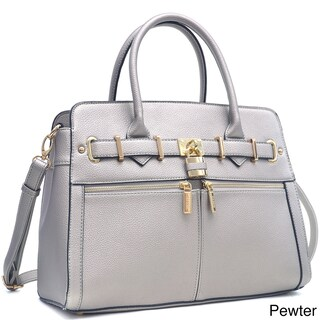 Dasein Medium Satchel Handbag with Shoulder Strap
