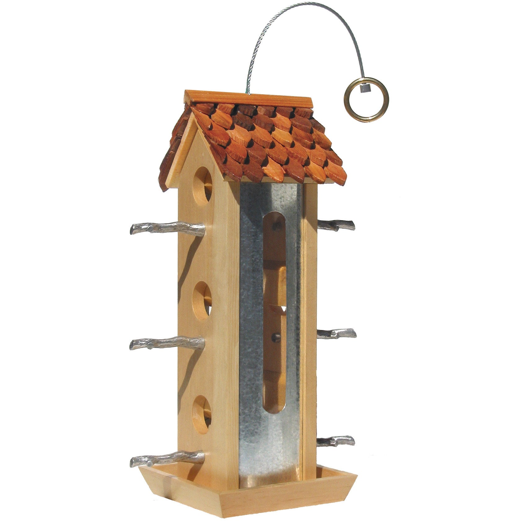 Perky Pet 2 Lb Capacity Fresh Designs Tin Jay Bird Feeder...