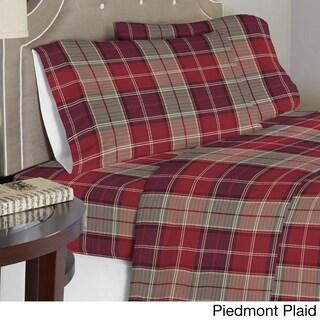 Pointehaven Printed Cotton Flannel Oversized Duvet Cover Set