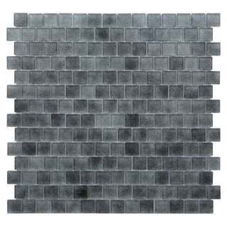 Quartz Grey Gradient Glass Tiles (Pack of 5)