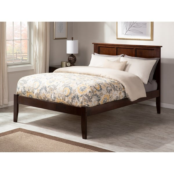 Madison King Platform Bed with Open Foot Board in Walnut