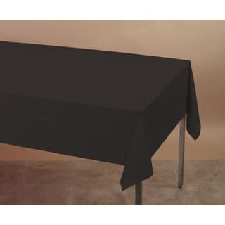 Creative Converting 710126 Black Velvet Tablecover