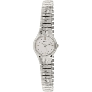 Pulsar Silvertone Stainless Steel Quartz Women's Watch