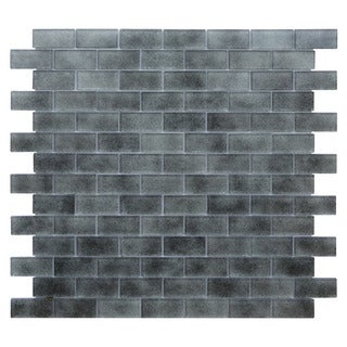 Quartz Grey Glossy Mosaic Tile (Pack of 5)