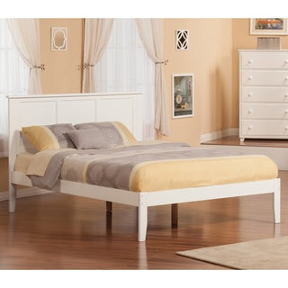 Atlantic Madison White Wood Queen Platform Bed