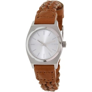 Nixon Women's Time Teller A5092082 Brown Leather Quartz Watch