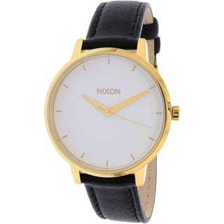 Nixon Women's Kensington A1081964 Gold-tone Leather Quartz Watch