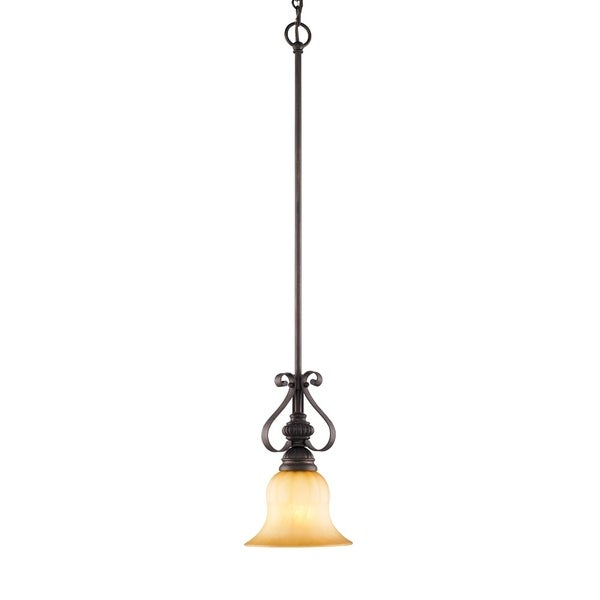 Golden Lighting's Multicolored Steel Mayfair Mini Pendant