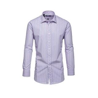 Steve Harvey Pink And Light Blue Striped Dress Shirt
