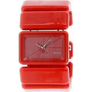 Nixon Women's Vega A726200 Red Plastic Quartz Watch