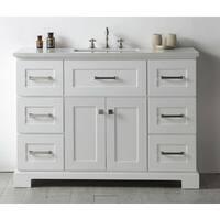 Legion Quartz Top White 48-inch Single Bathroom Vanity