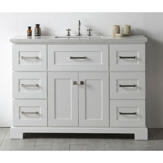 Legion Quartz Top White 48-inch Single Bathroom Vanity