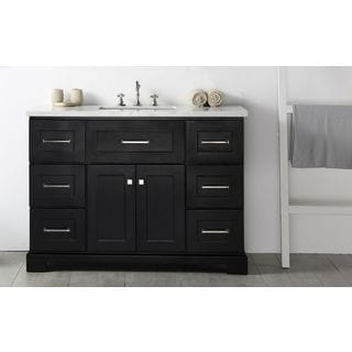 Legion Quartz Top Espresso 48-inch Single Bathroom Vanity