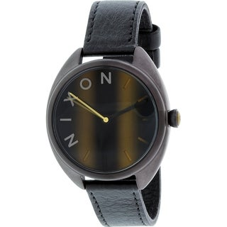 Nixon Women's Wit Black Leather Quartz Watch